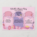 Pink Slumber Birthday Party Invitation