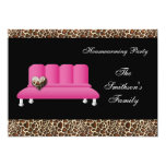 Pink Sofa Housewarming Party Invitations