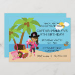 Pirate with a Peg Leg Birthday Party Invitation