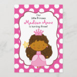 Polka Dot Princess Invitation African American