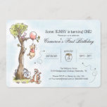 Pooh & Friends Watercolor Tree | First Birthday Invitation