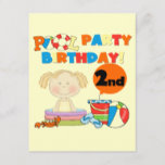 Pool Party 2nd Birthday Tshirts and Gifts Invitation Postcard