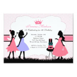 Pretty Little Princess Birthday Party Invitation