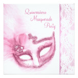 Pretty Pink Masquerade Party Card