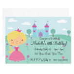 Pretty Princess Birthday Party Card