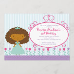 Pretty Princess Birthday Party Invitation Purple