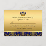 Prince Royal Blue Regal Crown Baptism RSVP