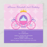 Princess Birthday Party Invitation Cute Carriage