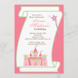 Princess Birthday Party Invitation Elegant Pink