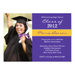 Purple and Gold Graduation Invitation Class 2012