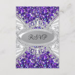 Purple Glitter Diamond Tiara Sweet 16 RSVP 2