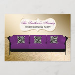 Purple Modern Sofa Housewarming Party Invitatio Invitation