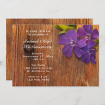 Purple Periwinkle and Barn Wood Anniversary Party Invitation