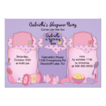 Purple Slumber Birthday Party Card
