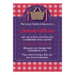 Red & Purple Summer Picnic Gingham Invitations