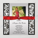 Red and Black Photo Graduation Announcement