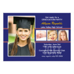 Red and Blue Photo Graduation Party Invitation