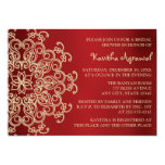 Red and Gold Indian Inspired Bridal Shower Invitation