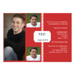 Red and White Retro Photo Graduation Card