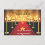 Red Carpet Hollywood Bat Mitzvah  RSVP Card