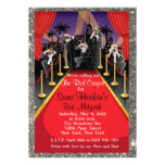 Red Carpet Hollywood Glitter Bat Mitzvah Invite