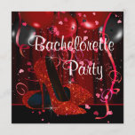 Red High Heel Shoes Red Bachelorette Party Invitation