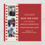 Red Movie Film Strip Save The Date Invites