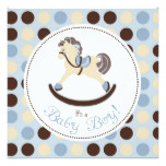 Rocking Horse Boy Square 2 Card