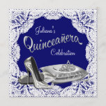 Royal Blue Quinceanera Invitation