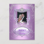 RSVP Wedding Lilac Purple Pink Silver Elegant