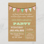 Rustic Buralp Bunting Housewarming party Invites