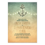 Rustic lights nautical rehearsal dinner invitation