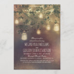 Rustic Vintage Mason Jar Lights Rehearsal Dinner Invitation