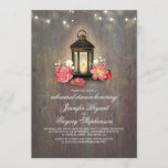 Rustic Wood and Lantern Barn Rehearsal Dinner Invitation