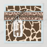 Safari Boy Invitation Square 2B