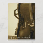 Sepia Cello invitation