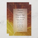 Shades of Autumn Leaf Wedding Anniversary Party Invitation