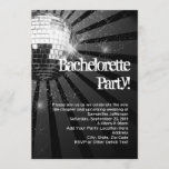 Silver Sparkle Disco Ball Bachelorette Party Invitation