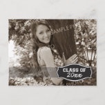 Simple Photo Graduation Announcement (black)