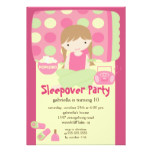 Sleepover Birthday Party Inviation Card