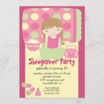 Sleepover Birthday Party Inviation Invitation