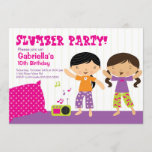 Sleepover Party Fun Birthday Invitation