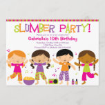 Slumber Party Fun Birthday Invitation