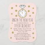 Sparkle Diamond Ring New Year's Eve Bridal Shower Invitation