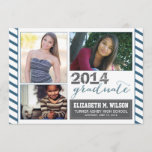 Sparkly Graduation Announcement (navy blue)