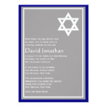 Star of David Bar Mitzvah Invitation Shining Star