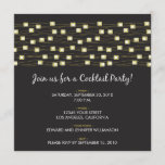 String of Lights Cocktail Party Invitation (black)