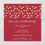 String of Lights Cocktail Party Invitation (red)