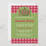 Summer Picnic Gingham Invitations