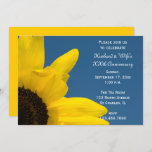Sunflower and Sky Wedding Anniversary Party Invitation